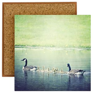 Baby Geese Photo Tile with Cork Back