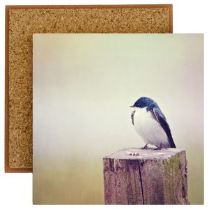 Barn Swallow Photo Tile with Cork Back