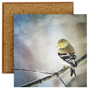 Goldfinch Photo Tile with Cork Back
