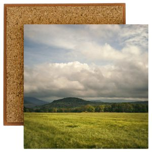 Clouds Over The Catskills Tile With Cork Back