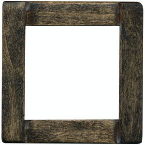 dark hardwood frame