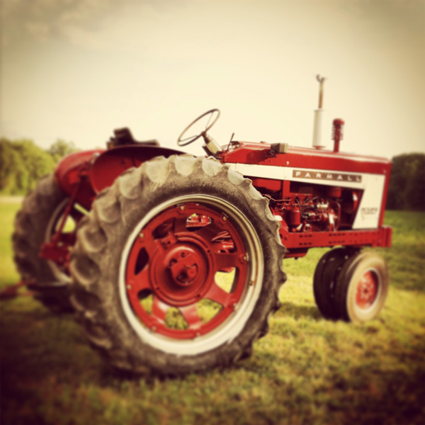 Antique Red Tractor