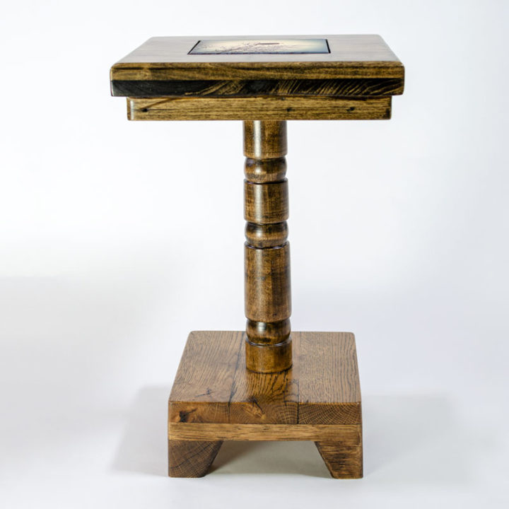 19-inch Cocktail Table Side View
