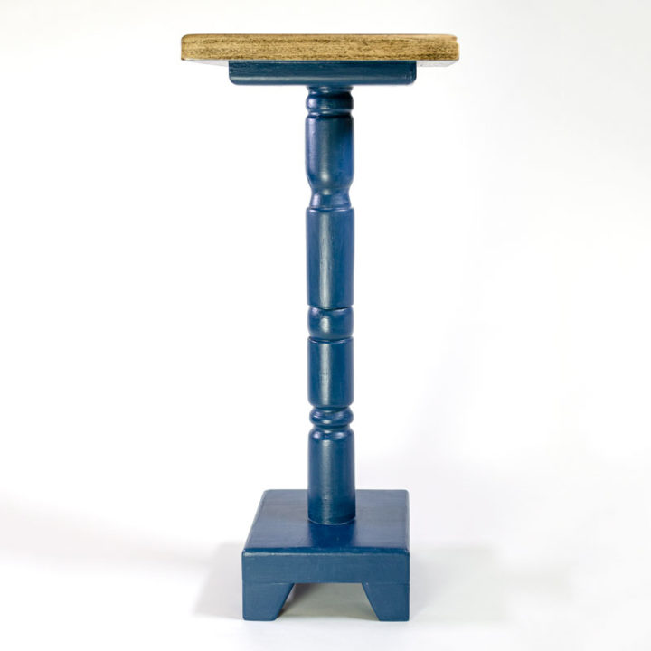 27-inch Cocktail Table with Lonestar Blue Base - side view