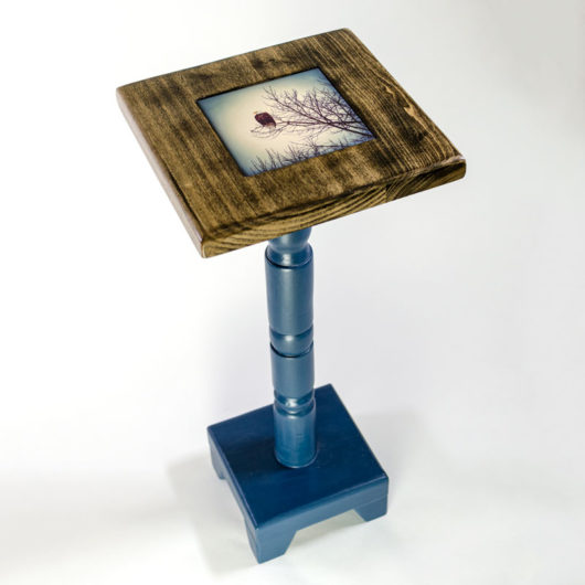 27-inch Cocktail Table with Lonestar Blue base and removable tile inlay