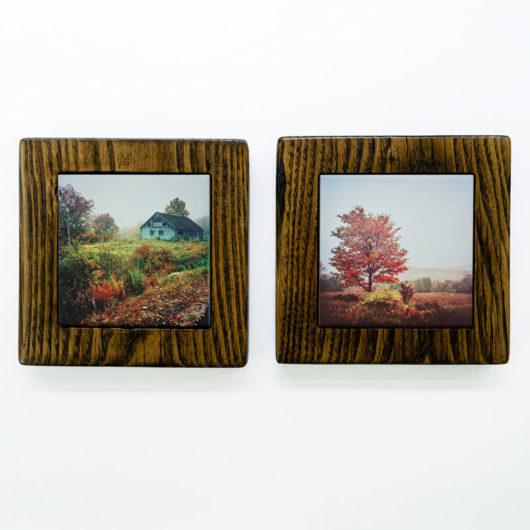Autumn Barn and Tree Framed Gift Set