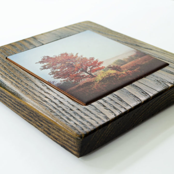 Autumn Tree Framed Gift Set Side