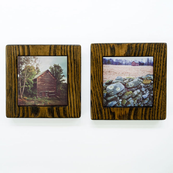 Old Barn and Stone Wall Framed Gift Set